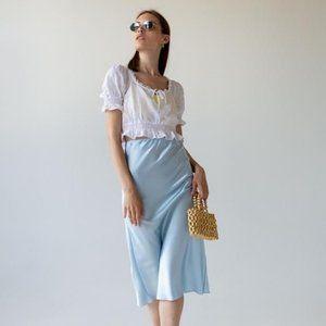 NWT Rachel Zoe silky satin a-line skirt size XL